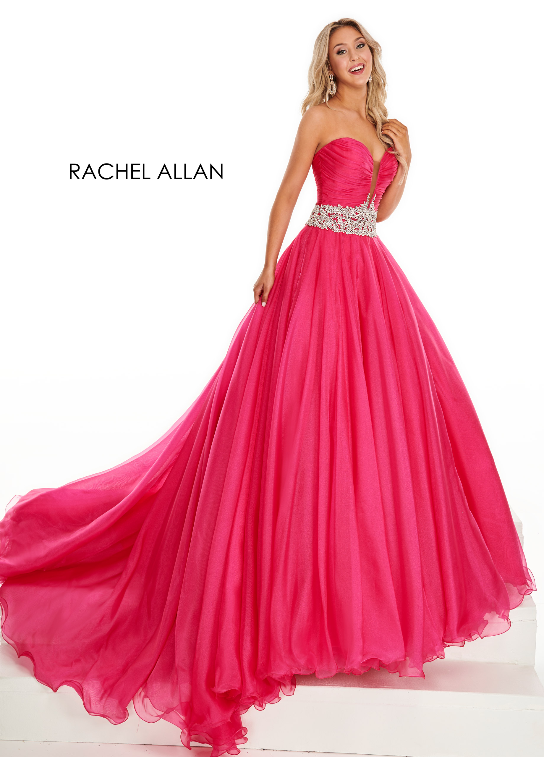Sweetheart Ball Gowns Pageant Dresses in Fuchsia Color