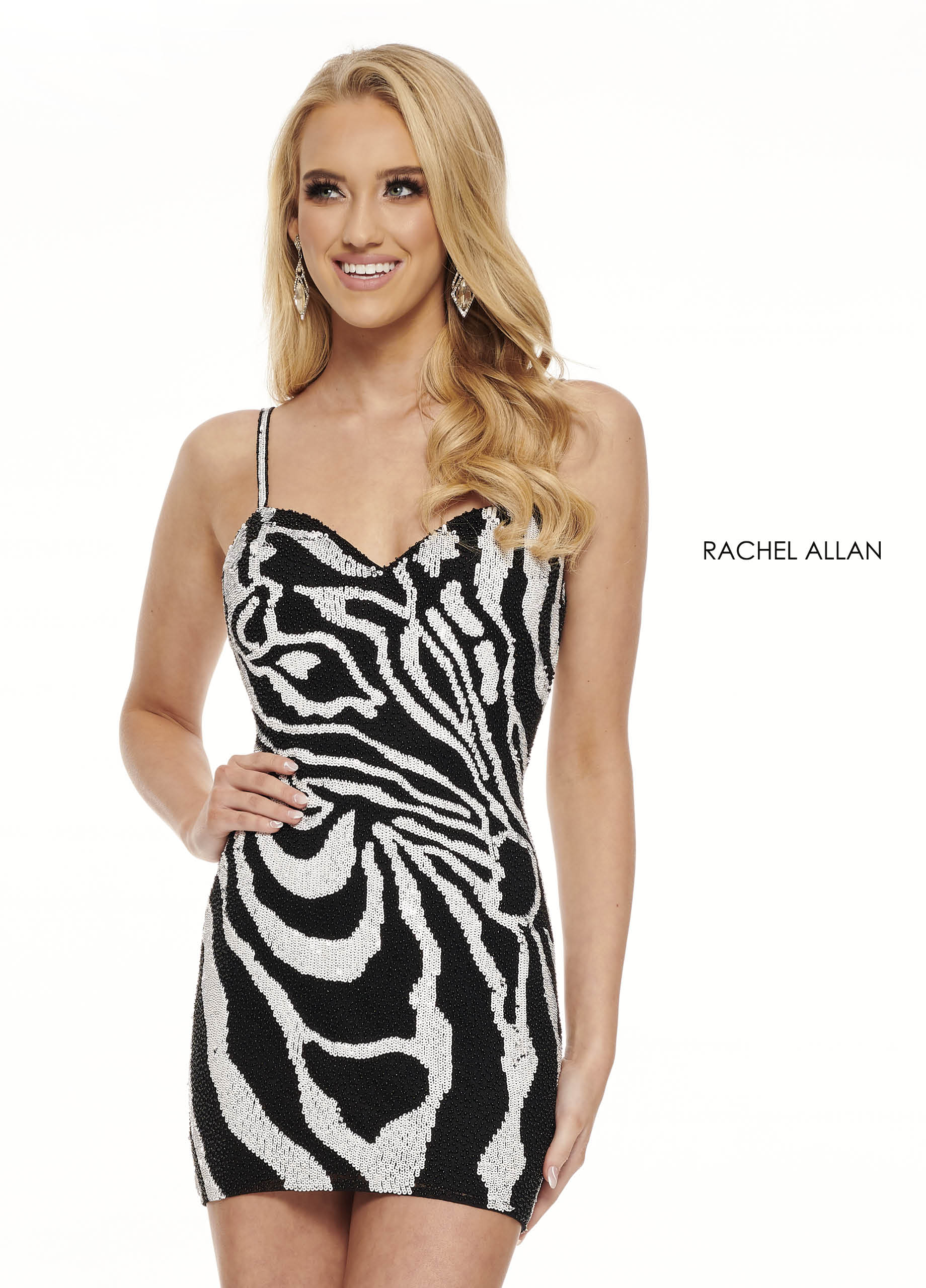 Strappy Fitted Mini Homecoming Dresses in Black Color