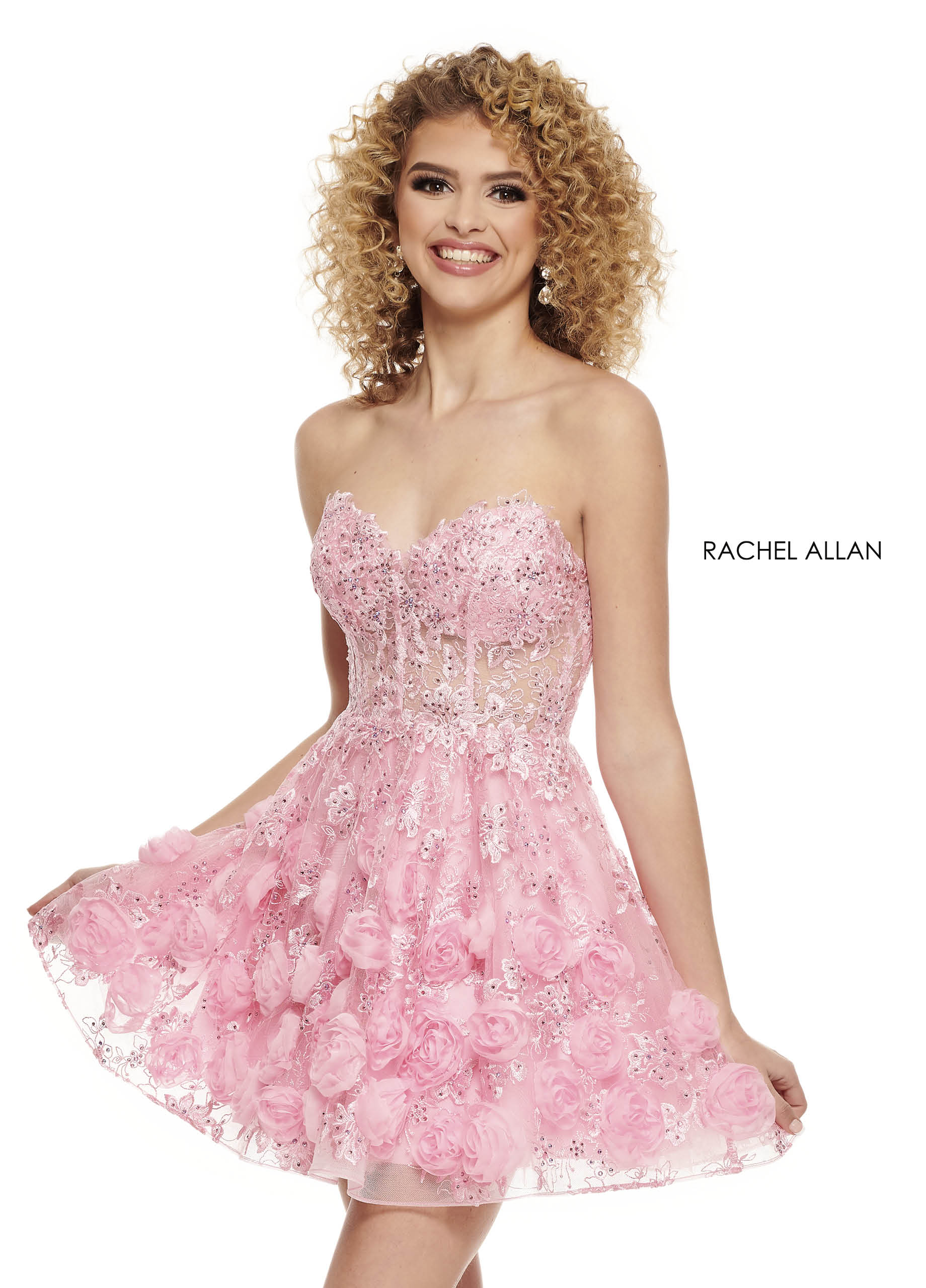 V-Neck Two-Piece Homecoming Dresses in Color   Style - 40011