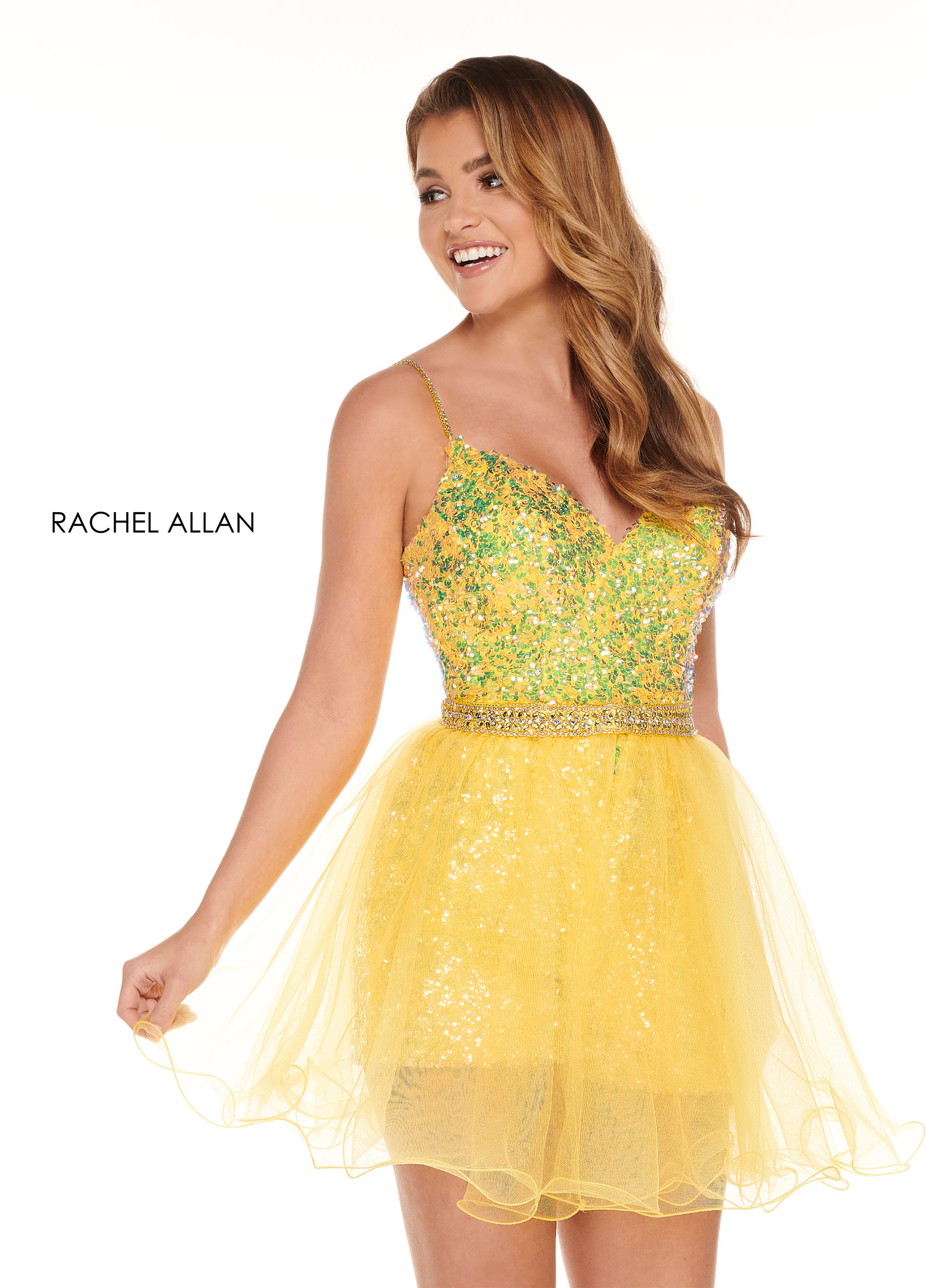 Sweetheart Romper Homecoming Dresses in Yellow Color