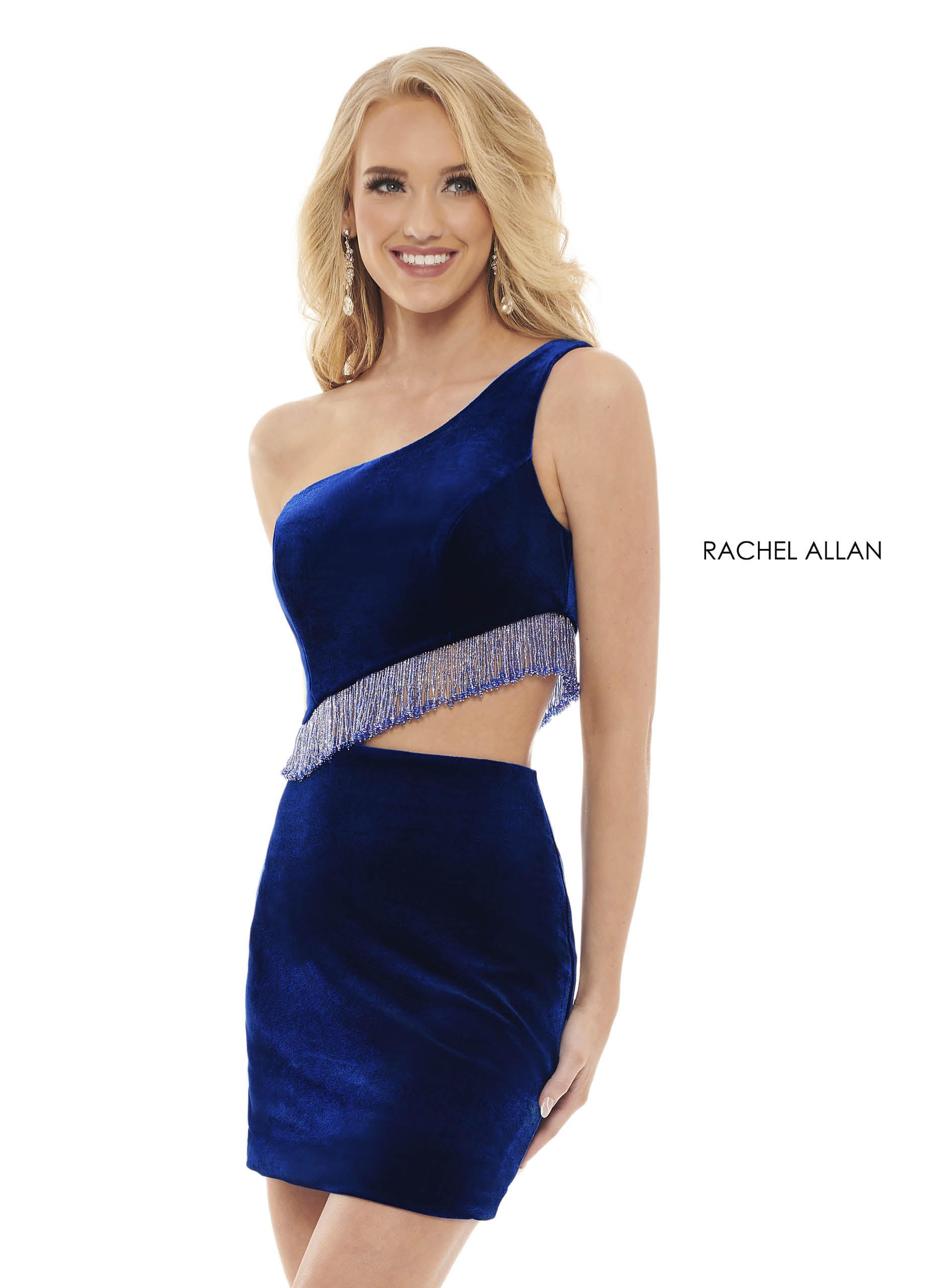 One Shoulder Fitted Mini Homecoming Dresses in Royal Color