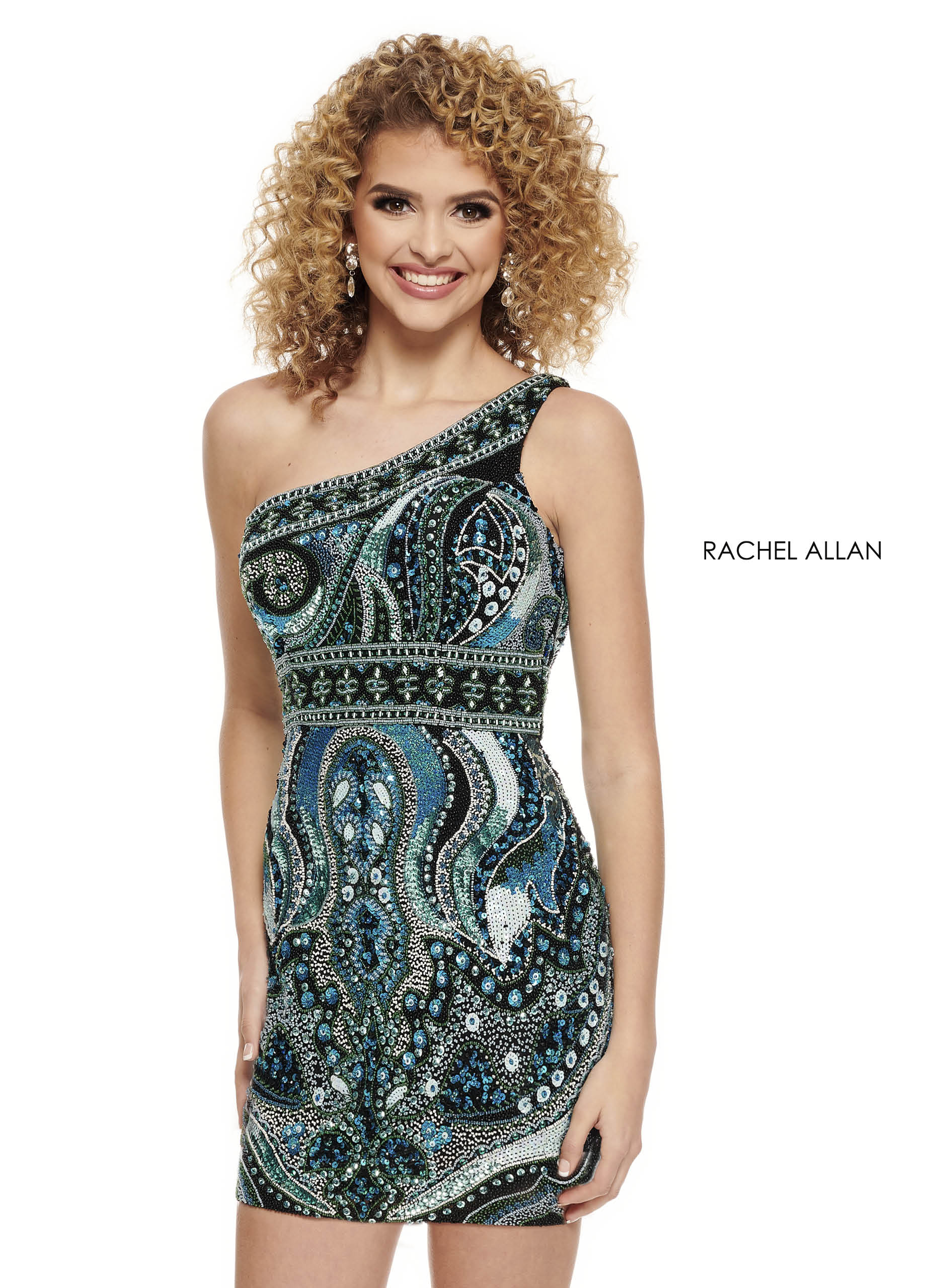 One Shoulder Fitted Mini Homecoming Dresses in Black Color