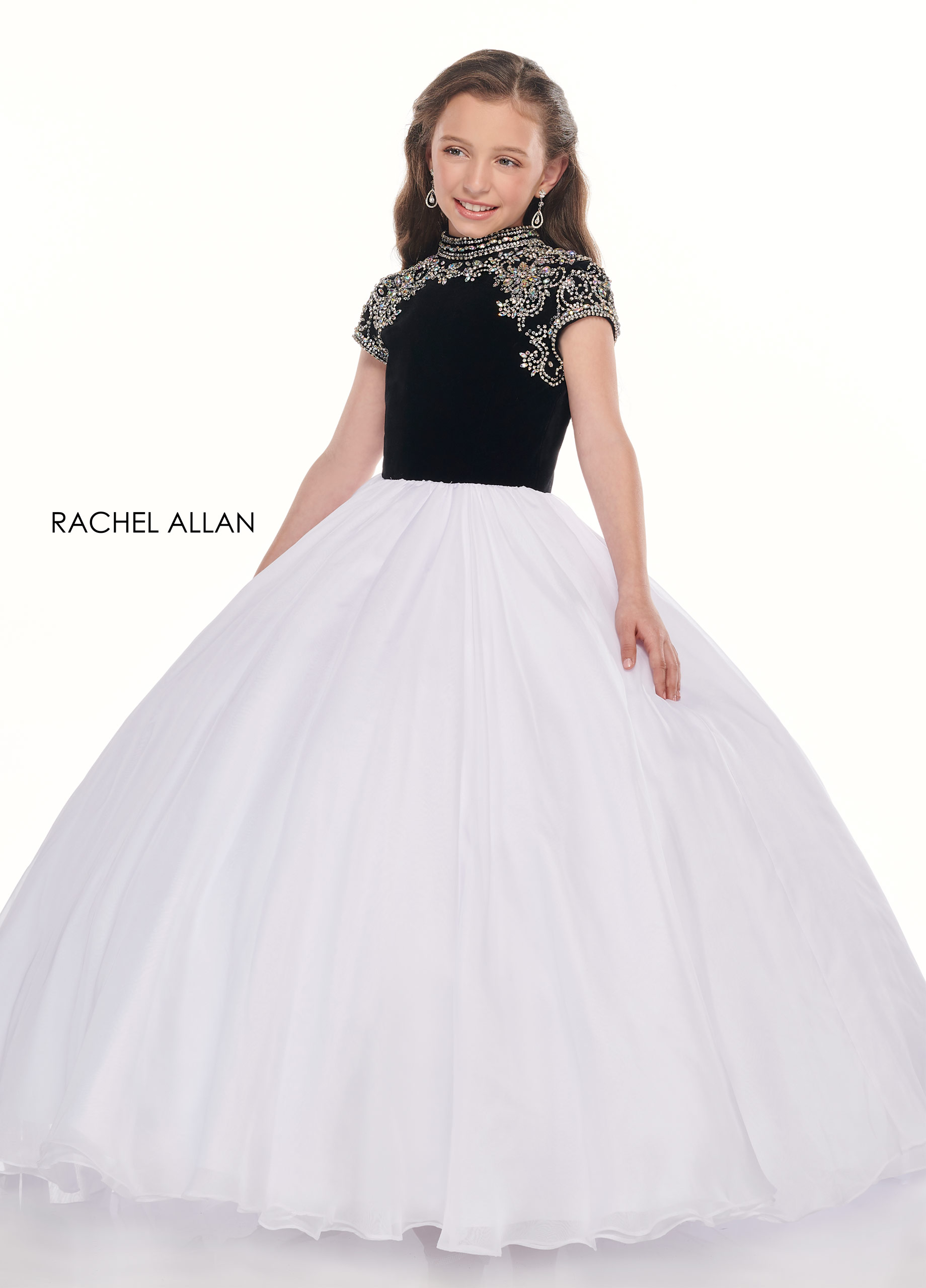 High Neckline Ball Gowns BEST SELLERS in Black Color