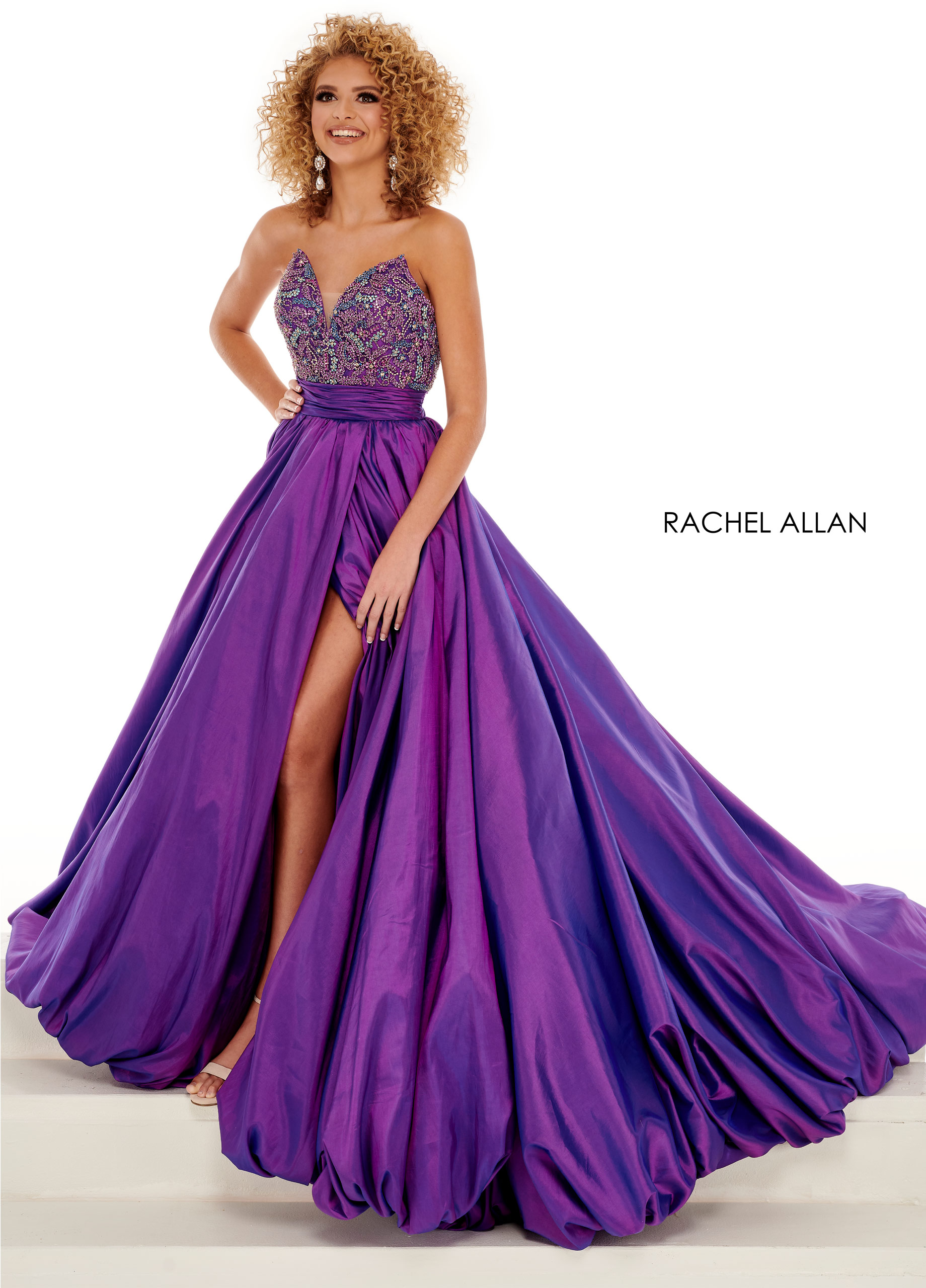 Strapless Ball Gowns Pageant Dresses in Purple Color