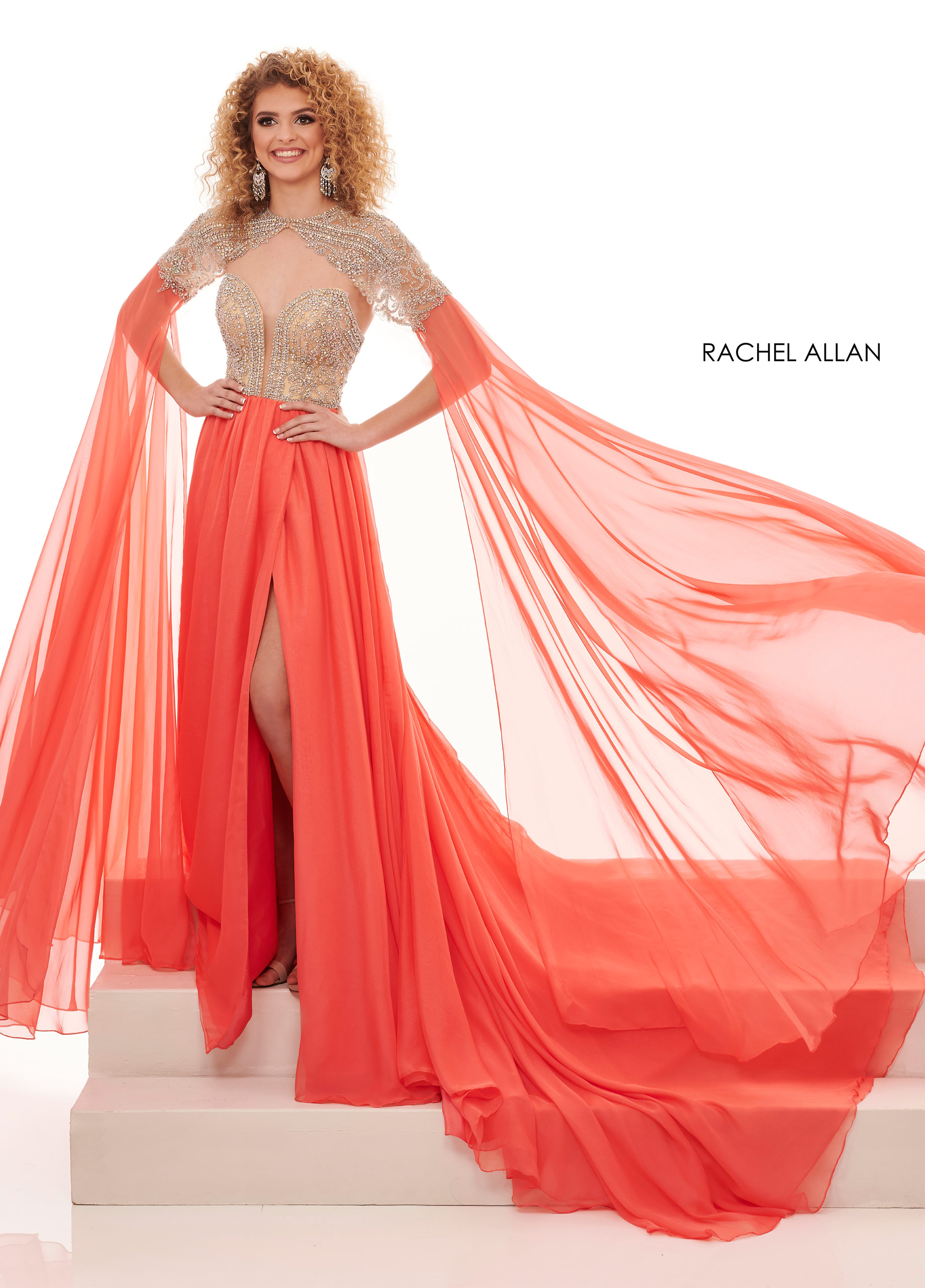 Sweetheart A-Line Pageant in Coral Color