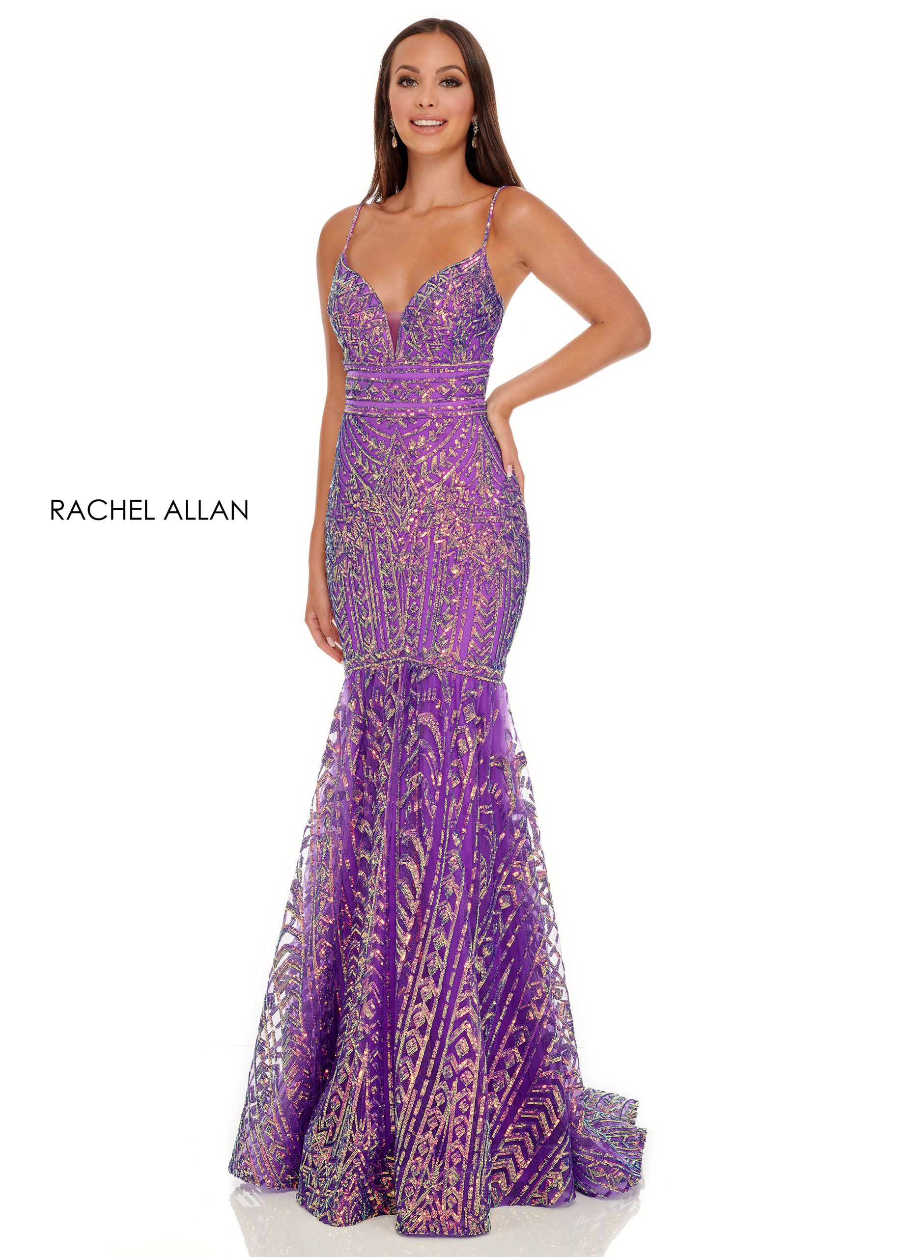 Sweetheart Fit & Flare Prom Dresses in Purple Color