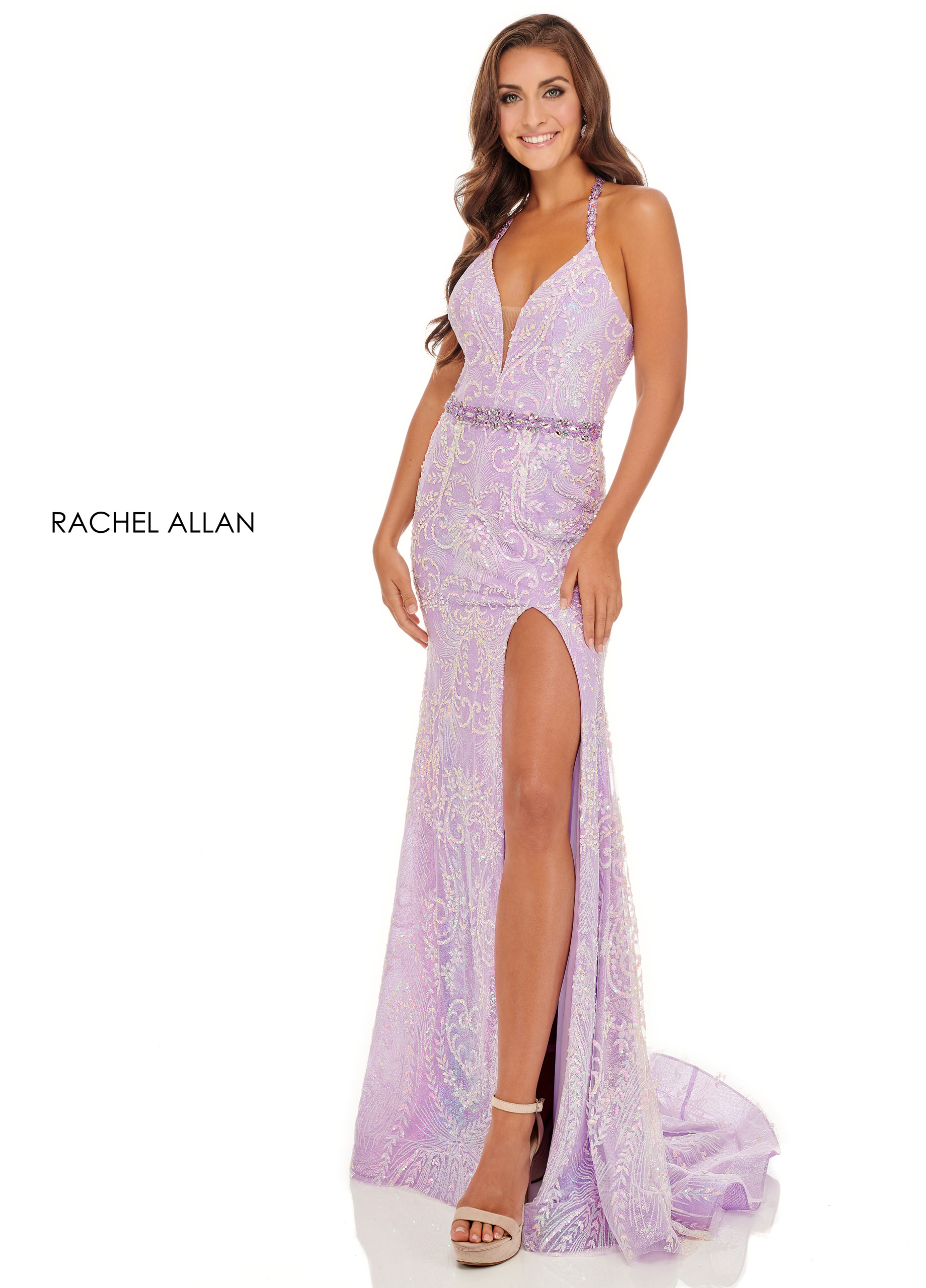 Halter Fitted Long BEST SELLERS in Lilac Color