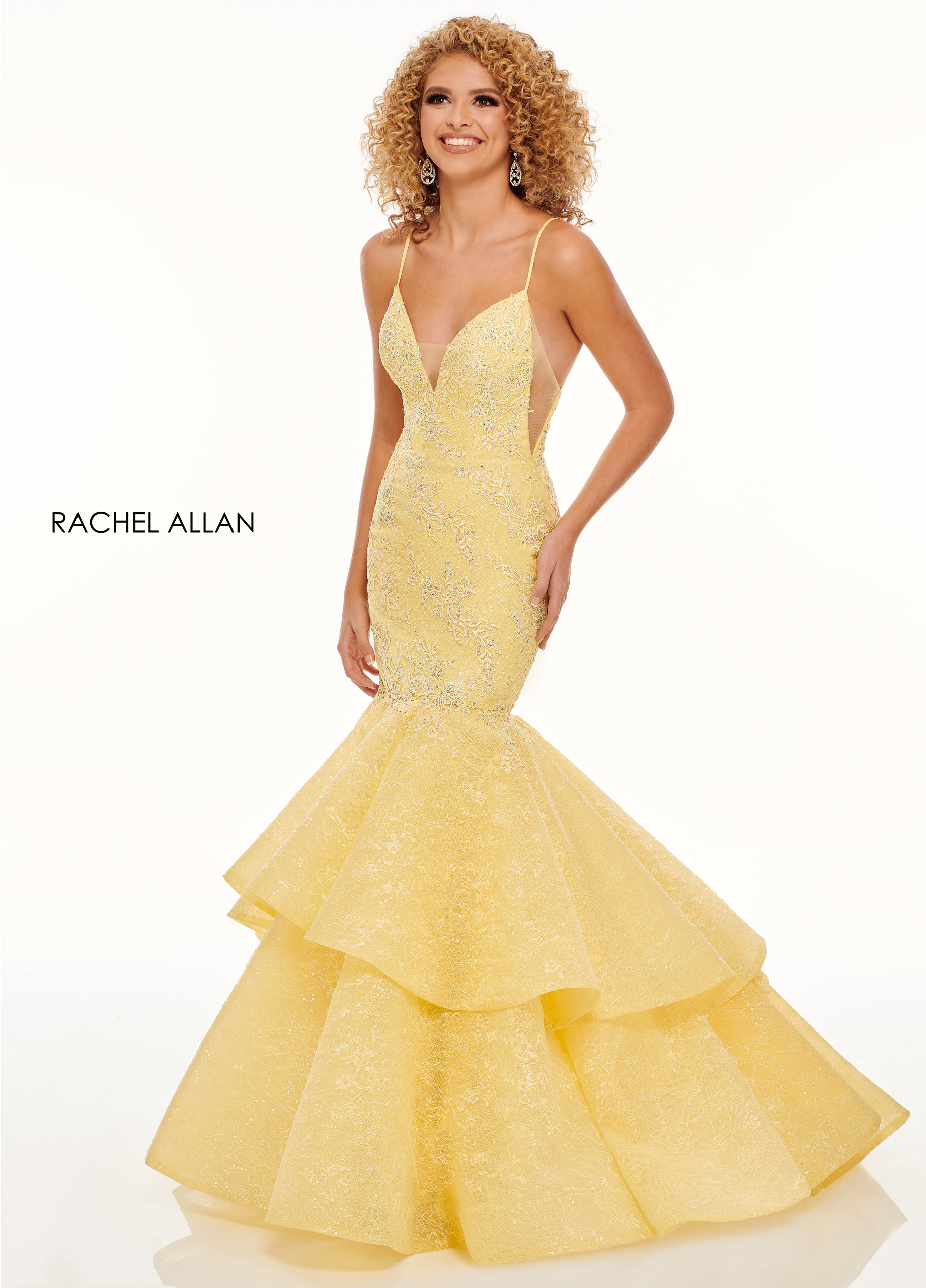 Sweetheart Mermaid Prom Dresses in Yellow Color