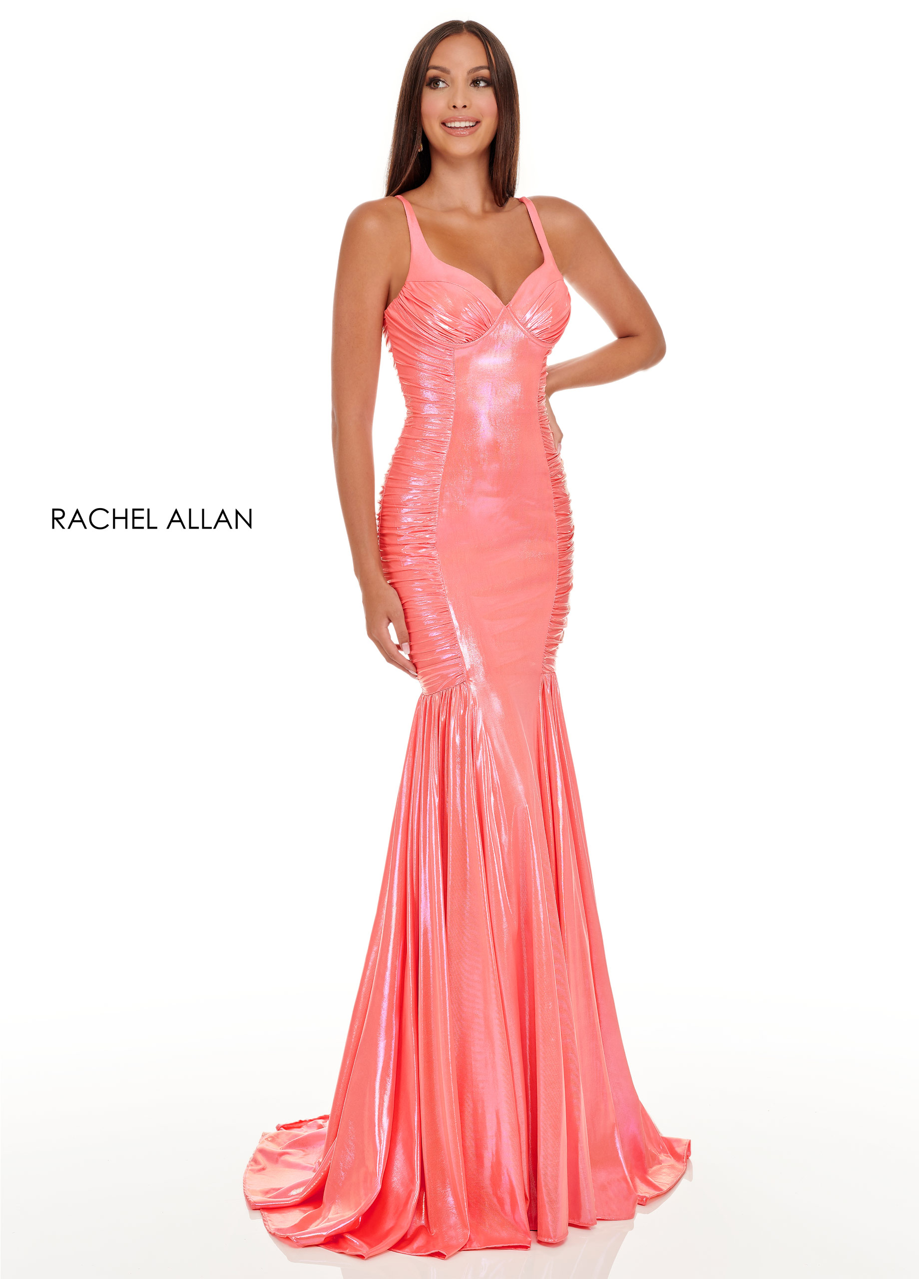 Sweetheart Mermaid Prom Dresses in Coral Color