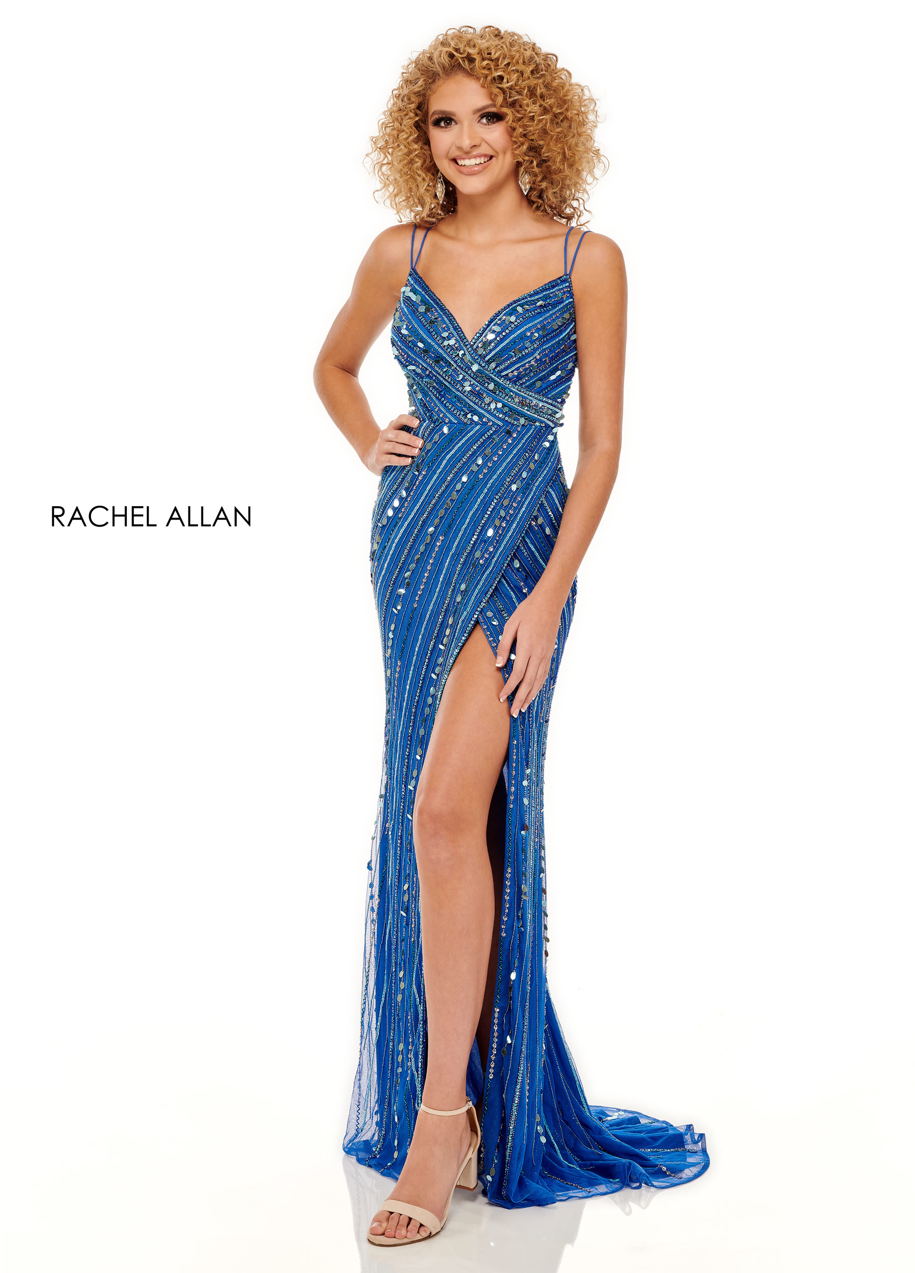 Strappy Fitted Long Prom Dresses in Royal Color