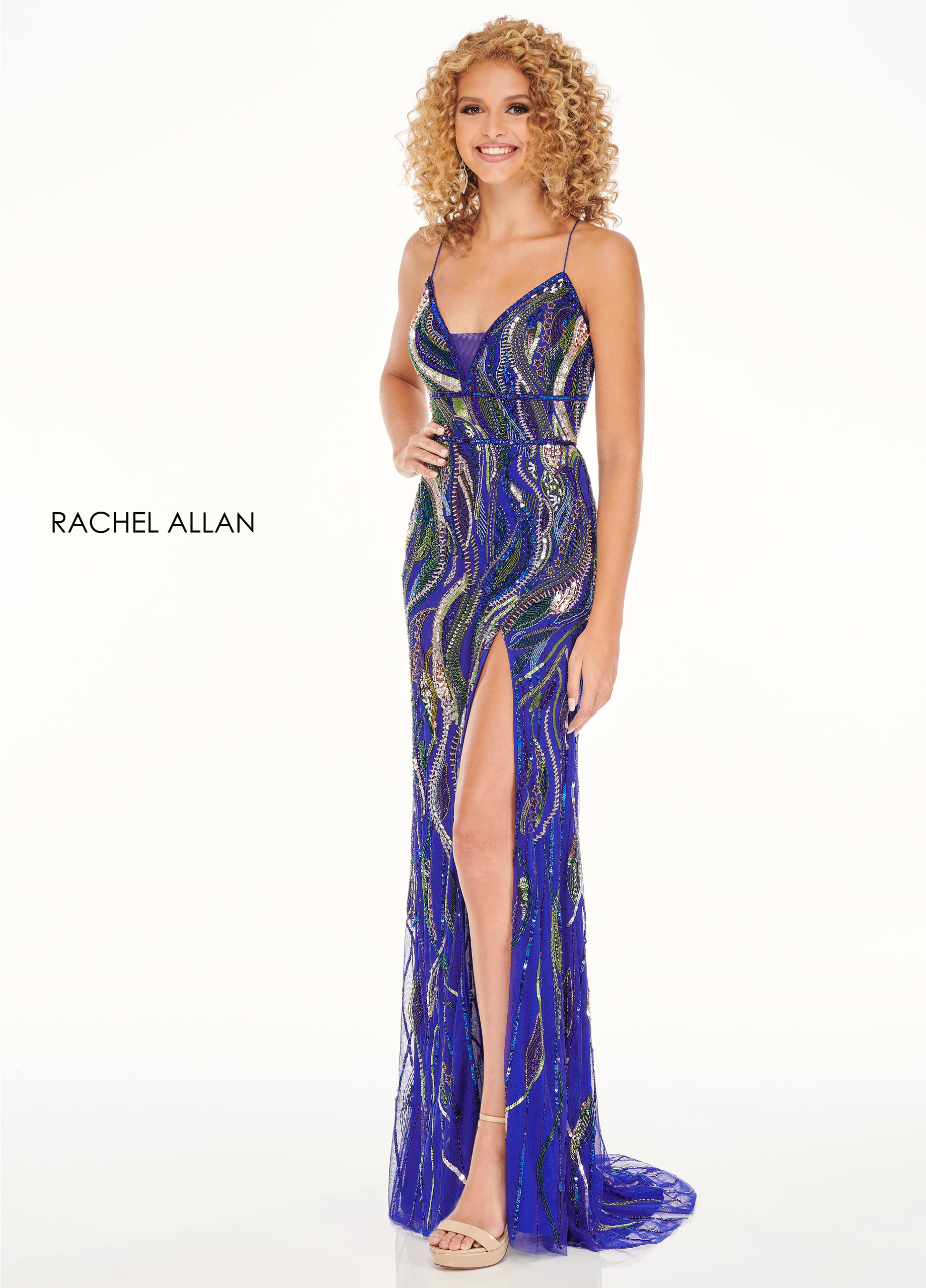 Sweetheart Fitted Long Prom Dresses in Royal Color