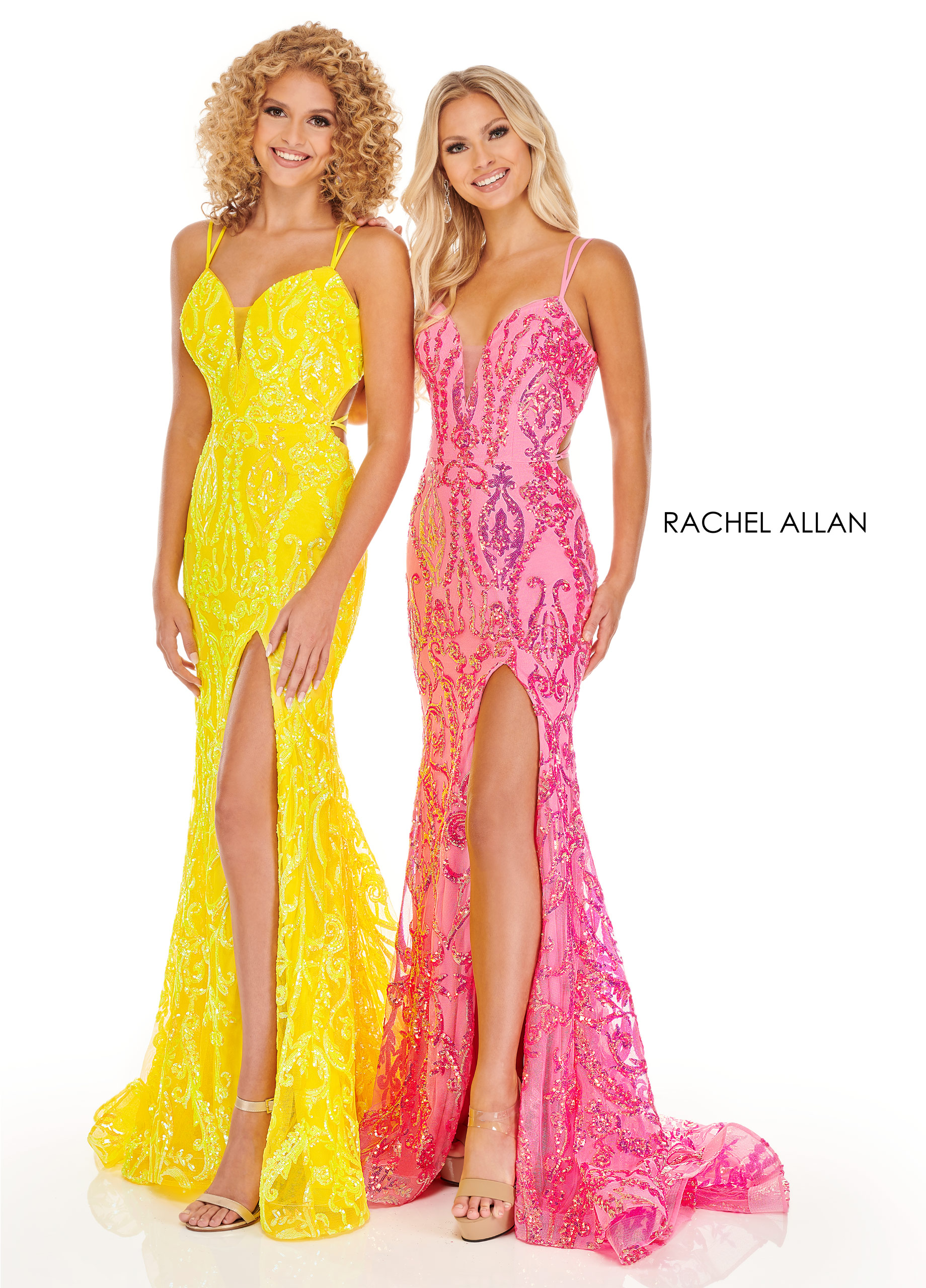 Sweetheart Fit & Flare Prom Dresses in Yellow Color