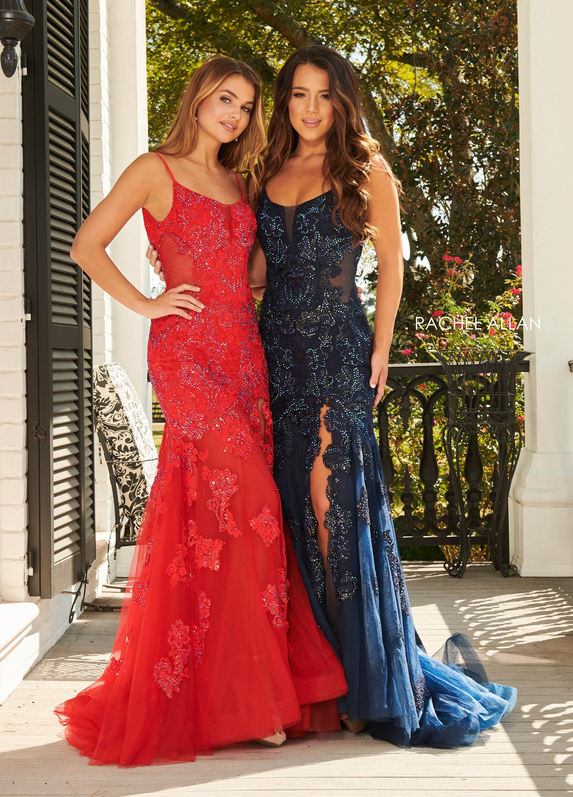 Strappy Fitted Long Prom Dresses in Red Color