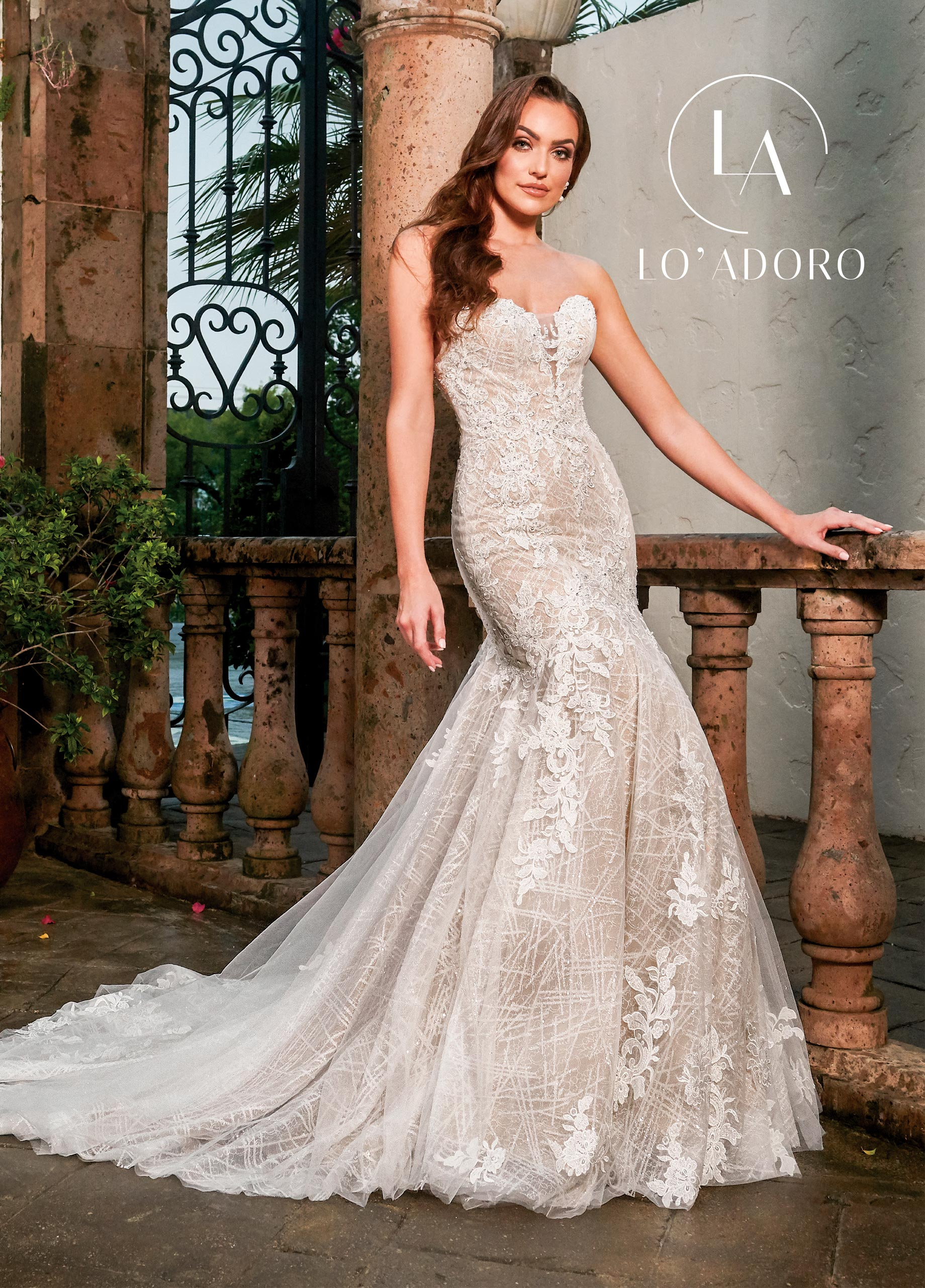 Sweetheart Drop Waist Lo' Adoro Bridal in White Color