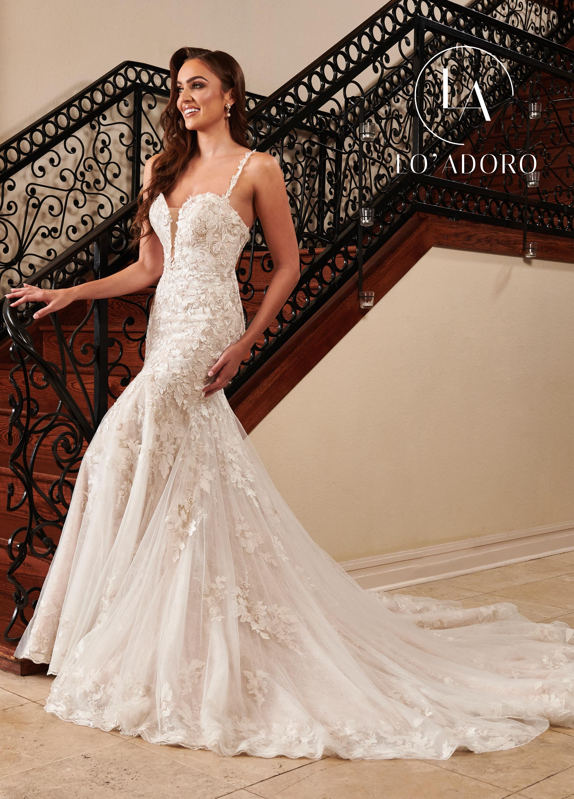 Sweetheart Fit & Flare Lo' Adoro Bridal in White Color