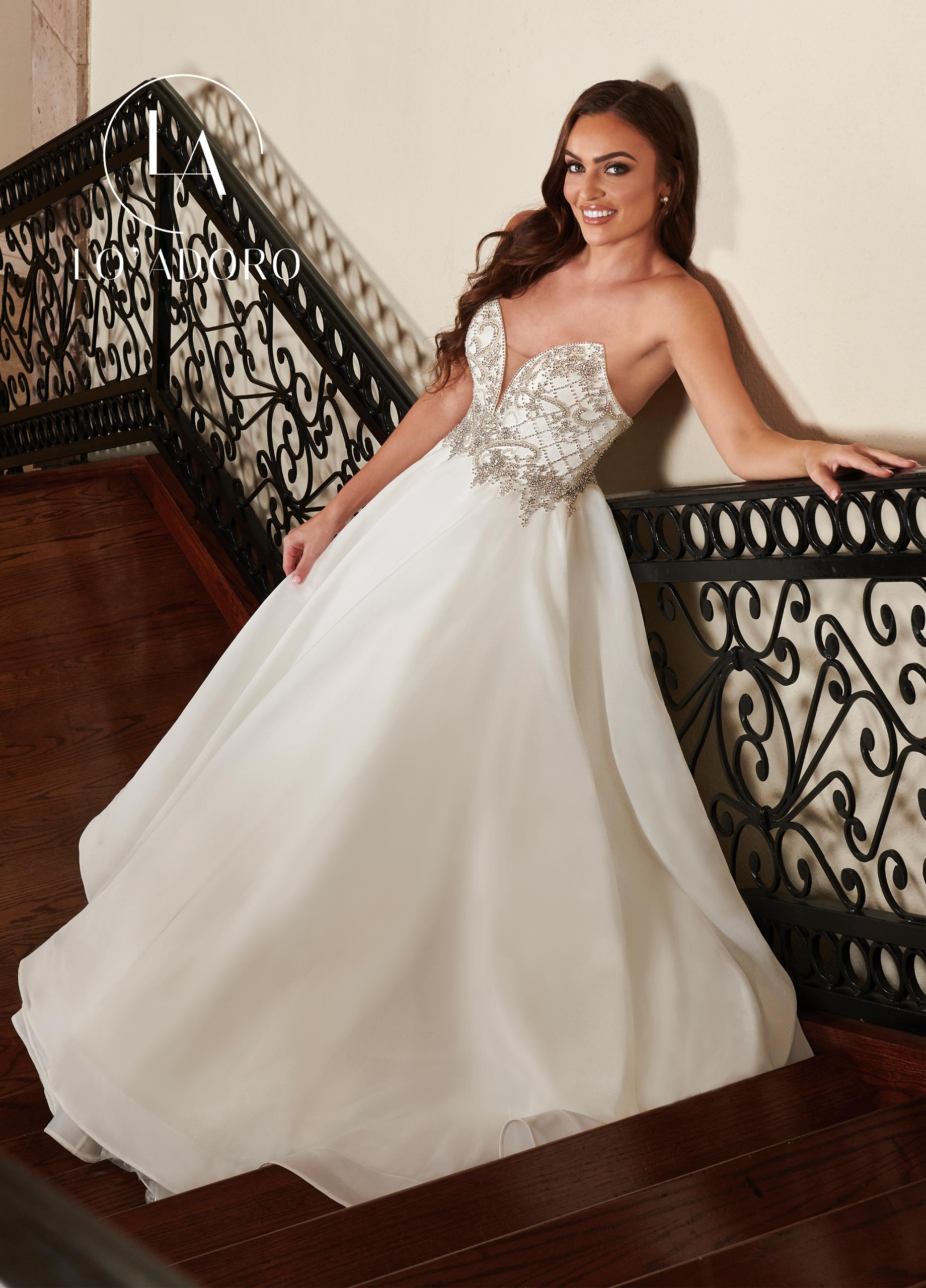 Sweetheart A-Line Lo' Adoro Bridal in White Color