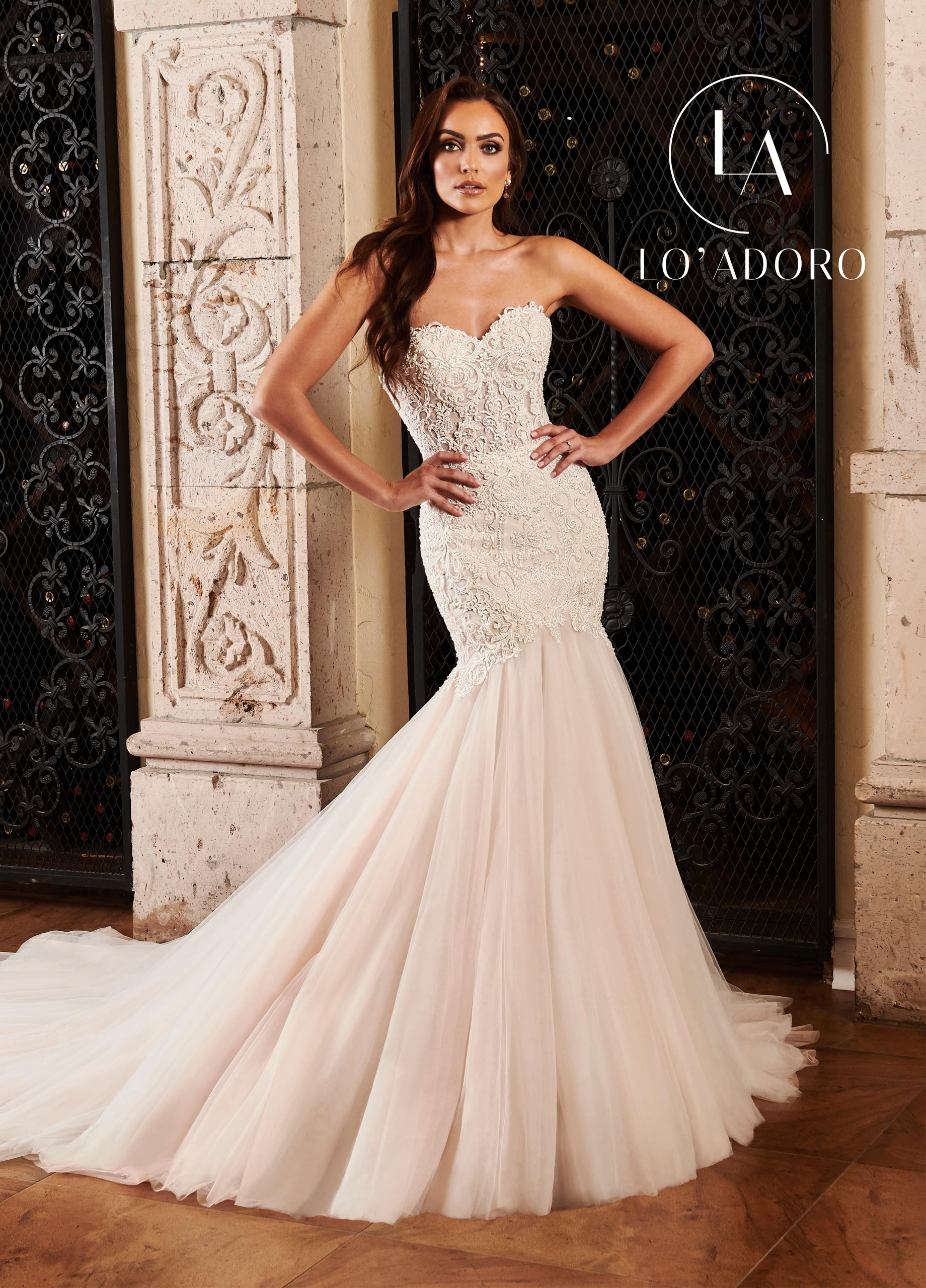 Sweetheart Mermaid Lo' Adoro Bridal in White Color
